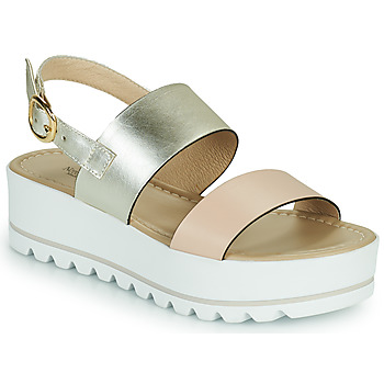 Topánky Ženy Sandále NeroGiardini SABRI Biela / Zlatá