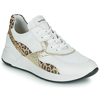 Topánky Ženy Nízke tenisky NeroGiardini FIDEL Biela / Leopard