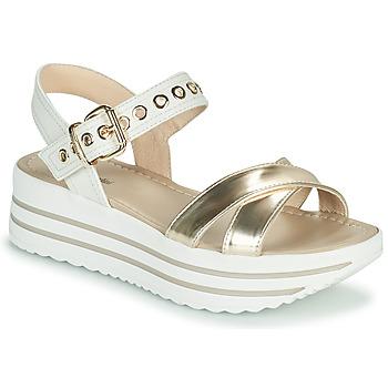 Topánky Ženy Sandále NeroGiardini TIMMA Biela / Zlatá