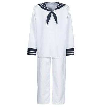 Oblečenie Muži Kostýmy Fun Costumes COSTUME ADULTE MARIN BLANC Biela