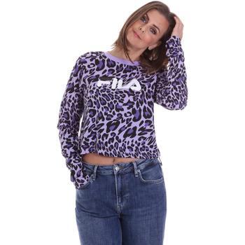 Oblečenie Ženy Tričká s dlhým rukávom Fila 687972 Fialový
