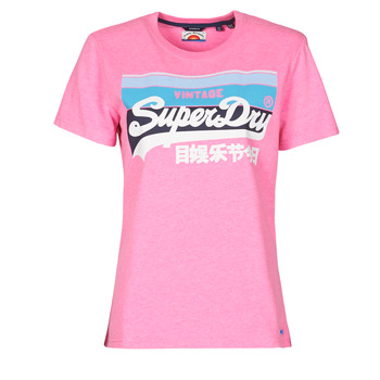 Oblečenie Ženy Tričká s krátkym rukávom Superdry VL CALI TEE 181 Ružová