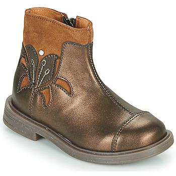 Topánky Dievčatá Polokozačky Little Mary ELIANE Zlatá