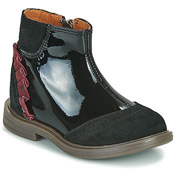 Topánky Dievčatá Polokozačky Little Mary ELSIE Čierna