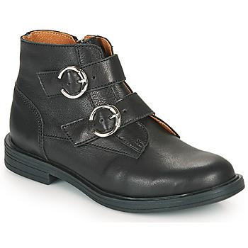 Topánky Dievčatá Polokozačky Little Mary EMILIENNE Čierna