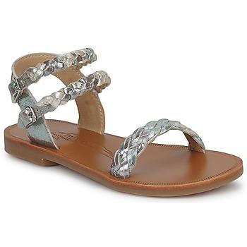 Topánky Dievčatá Sandále Pom d'Api KOH BI WOVEN Maskáčový vzor / Trblietkavá