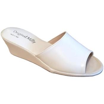 Topánky Ženy Šľapky Milly MILLY103bia bianco