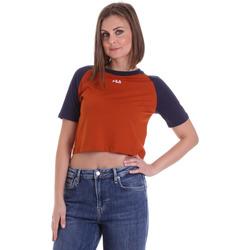 Oblečenie Ženy Tričká s krátkym rukávom Fila 687919 Oranžová