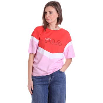 Oblečenie Ženy Tričká s krátkym rukávom Fila 683162 Červená