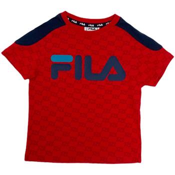 Oblečenie Deti Tričká s krátkym rukávom Fila 688077 Červená