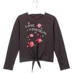 Oblečenie Dievčatá Tričká s dlhým rukávom Losan 024-1202AL Šedá