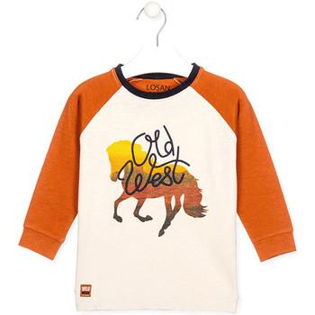 Oblečenie Deti Tričká a polokošele Losan 025-1018AL Biely
