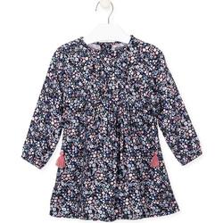 Oblečenie Dievčatá Šaty Losan 026-7021AL Modrá