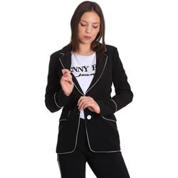 Oblečenie Ženy Saká a blejzre Denny Rose 811DD30004 čierna