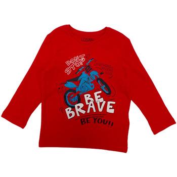Oblečenie Deti Tričká s dlhým rukávom Losan 025-1201AL Červená