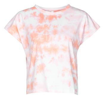Oblečenie Ženy Tričká s krátkym rukávom Yurban ONILA Biela / Ružová