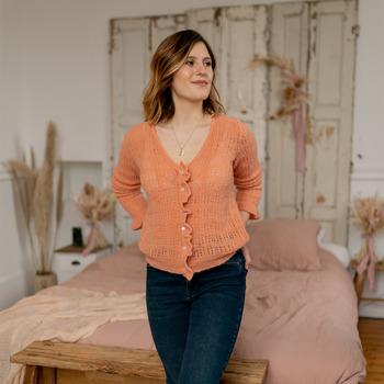 Oblečenie Ženy Cardigany Céleste BERGAMOTE Oranžová lososová