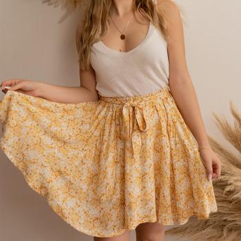 Oblečenie Ženy Sukňa Céleste EGLANTINE Žltá / Biela
