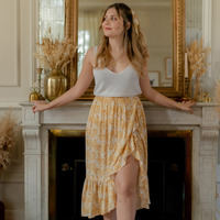 Oblečenie Ženy Sukňa Céleste TOURTERELLE Žltá / Biela