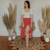 Oblečenie Ženy Sukňa Céleste TOURTERELLE Červená / Viacfarebná
