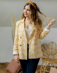 Oblečenie Ženy Saká a blejzre Céleste ALIZE Žltá / Biela