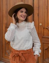 Oblečenie Ženy Blúzky Céleste HIRONDELLE Biela
