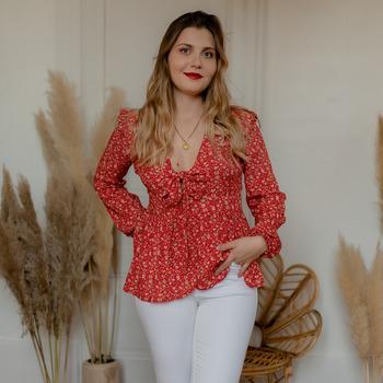 Oblečenie Ženy Blúzky Céleste ROSSIGNOL Červená / Viacfarebná