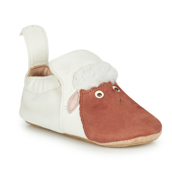 Topánky Deti Papuče Easy Peasy BLUBLU MOUTON Biela