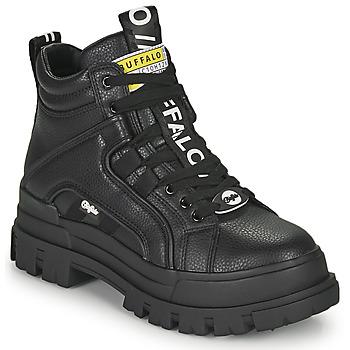Topánky Ženy Polokozačky Buffalo ASPHA NC MID Čierna