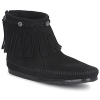 Topánky Ženy Polokozačky Minnetonka HI TOP BACK ZIP BOOT Čierna