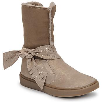 Topánky Dievčatá Čižmy do mesta GBB EVELINA Béžová