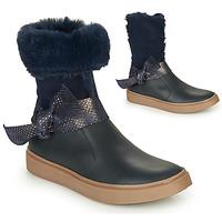 Topánky Dievčatá Čižmy do mesta GBB EVELINA Modrá