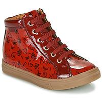 Topánky Dievčatá Členkové tenisky GBB PHILEMA Červená