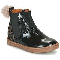 Topánky Dievčatá Polokozačky GBB GEMMA Čierna