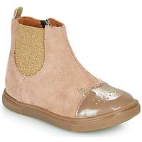 Topánky Dievčatá Polokozačky GBB JESSINE Béžová