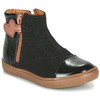 Topánky Dievčatá Polokozačky GBB OKITA Čierna