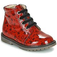 Topánky Dievčatá Členkové tenisky GBB NAREA Červená