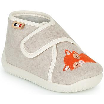 Topánky Deti Papuče GBB APOCHOU Béžová