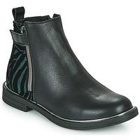 Topánky Dievčatá Polokozačky GBB XIANA Čierna
