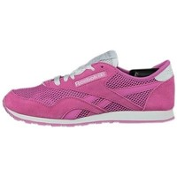 Topánky Ženy Nízke tenisky Reebok Sport CL Nylon Slim Pigment Biela, Ružová