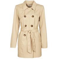 Oblečenie Ženy Kabátiky Trenchcoat Only ONLVALERIE Béžová