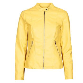 Oblečenie Ženy Kožené bundy a syntetické bundy Only ONLMELISA Žltá