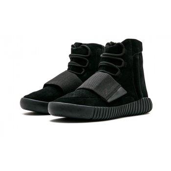 Topánky Členkové tenisky adidas Originals Yeezy Boost 750 Triple Black Charcoal Black