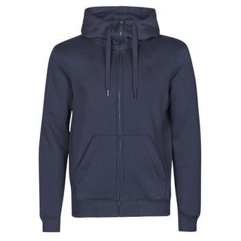 Oblečenie Muži Mikiny G-Star Raw PREMIUM BASIC HOODED ZIP SWEATER Námornícka modrá