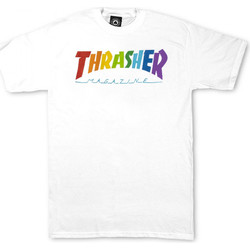 Oblečenie Muži Tričká s krátkym rukávom Thrasher T-shirt rainbow mag ss Biela