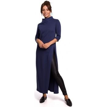Oblečenie Ženy Tuniky Be B163 Tunika s vysokým rozparkom - modrá