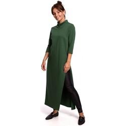 Oblečenie Ženy Tuniky Be B163 Tunika s vysokým rozparkom - zelená