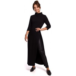 Oblečenie Ženy Tuniky Be B163 Tunika s vysokým rozparkom - čierna