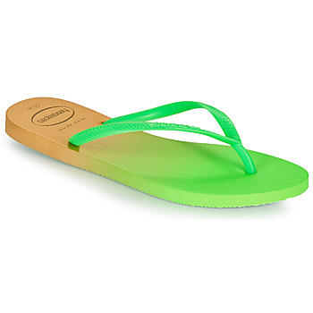 Topánky Ženy Žabky Havaianas SLIM GRADIENT Biela / Zelená
