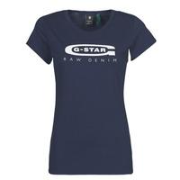 Oblečenie Ženy Tričká s krátkym rukávom G-Star Raw GRAPHIC 20 SLIM Modrá